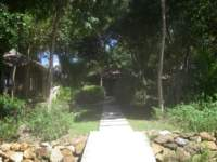 Footpath from the beach to the bungalows